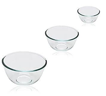 Pyrex Bowl Set, 0.5L/1.0L/2.0L, 3 Piece