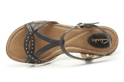 bbbffbe4bfe Clarks Womens Roya Hannah Black Leather Casual Sandals Shoes  Amazon.co.uk   Shoes   Bags