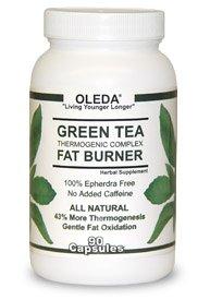OLEDA THÉ VERT thermogénique BRULEUR Complexe FAT. Supplément de fines herbes - 100% gratuit Epherdra. All Natural