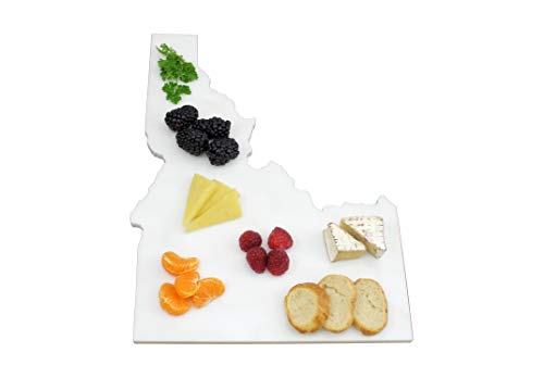 (Custom Idaho Marble Cutting Board, Serving Tray, or Cheese Board- Personalized with Laser Engraving)