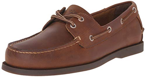 Dockers Men's Vargas Leather Handsewn Boat Shoe,Rust, 11 M US