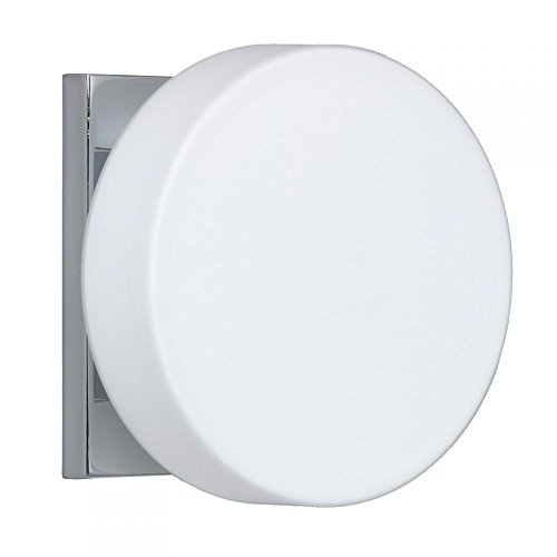 Besa Lighting 1WS-773807-CR 1WS Series Opal Chrome Wall 120v Vanity