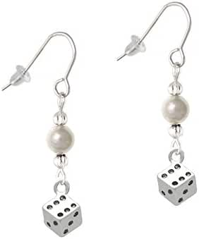 Dice Imitation Pearl French Earrings