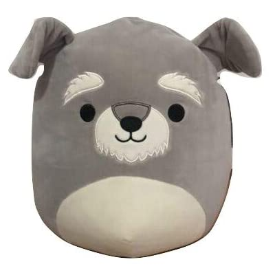 Squishmallow Kellytoy 12 Inch Shaun The Schnauzer- Super Soft Plush Toy Animal Pillow Pal Pillow Buddy Stuffed Animal Birthday Gift Holiday: Toys & Games