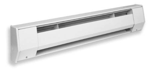 King 6K2412BW 1,500-1,125-Watt 277/240-Volt 6-Foot Baseboard Heater, Bright White 240v Electric Baseboard Heater