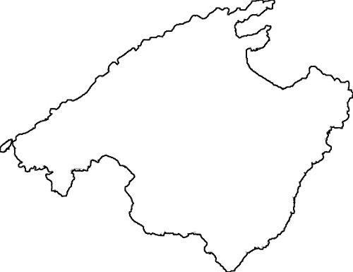 Spanien Karte Schwarz Weiß.2x Auto Aufkleber Car Sticker Mallorca Spanien Insel Ca 11 X 9 Cm