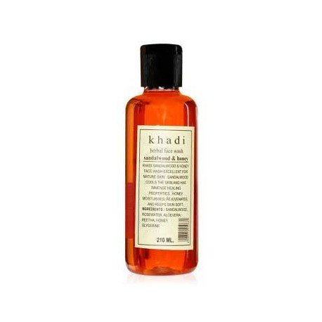 KHADI-Herbal-Face-Wash-Sandalwood-Honey-210ml-Pack-of-4