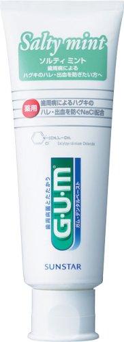 GUM Dental Paste Salty Mint Standing Type 150g (Japan Import)