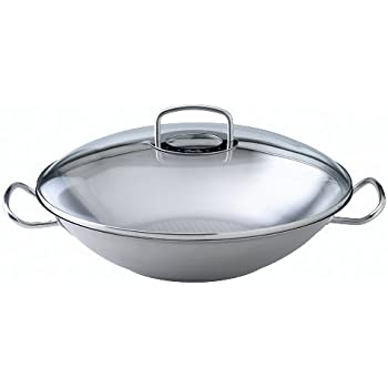 fissler wok original profi collection edelstahl pfanne wokpfanne hoch mit