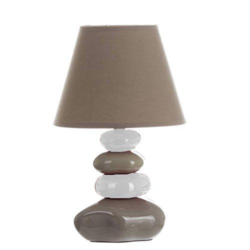 Atmosphera Lámpara de mesa, diseño de piedras, color gris y ...