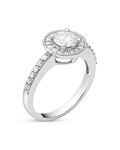 Forever Classic Round 6.0mm Moissanite Engagement Ring-size 6, 1.08cttw DEW By Charles & Colvard by Charles & Colvard (Image #1)