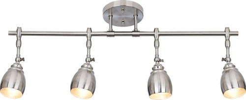 Pro Track Elm Park Collection Brushed Steel 4-Light Fixture