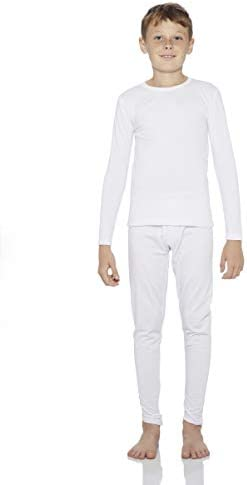 ロッキーBoy 'sフリース裏地Thermal Underwear 2ピースセットロング・ジョン・上部と下部