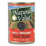 Natural Value Organic Black Beans 36x 15Oz