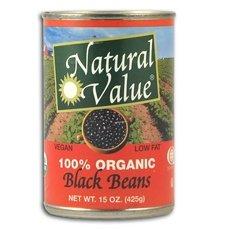 Natural Value Organic Black Beans 24x 15Oz