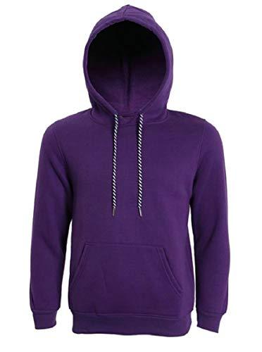Qianqian-au Mode Solide Sweat-shirt De Poche De Cordon De Serrage Manches Longues Hommes Violet