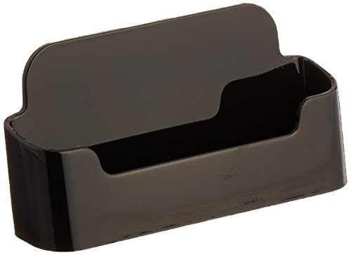 Deflecto Sustainable Office Recycled Business Card Holder Stand, Single Compartment, 3-3/34″W x 1-7/8″H x 1-1/2″D, Black (90104)