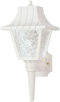 Exterior Hi-Impact Polycarbonate Wall Lantern in White Set of 2