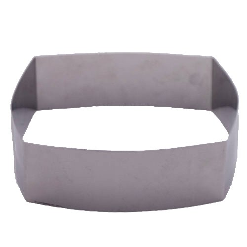 Fat Daddio's Stainless Steel Convex Square Cake and Pastry Ring, 8.25 Inch x 2 Inch