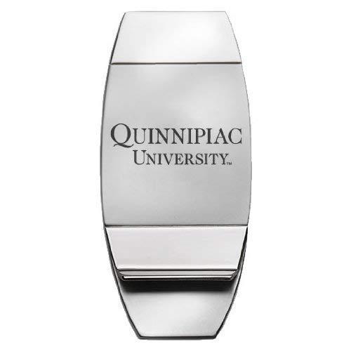 Quinnipiac University Two-Toned Money Clip Silver