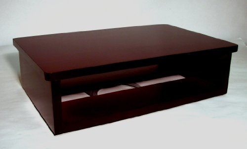 TV and DVD Cable box Swivel Stand, Dark Cherry