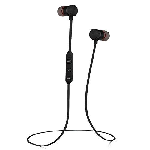 TFHEEY Auriculares Bluetooth, 4.1 Magnéticos In-Ear Cascos Deportivos Inalámbricos con Mic,TAuriculares a Prueba de Sudor...