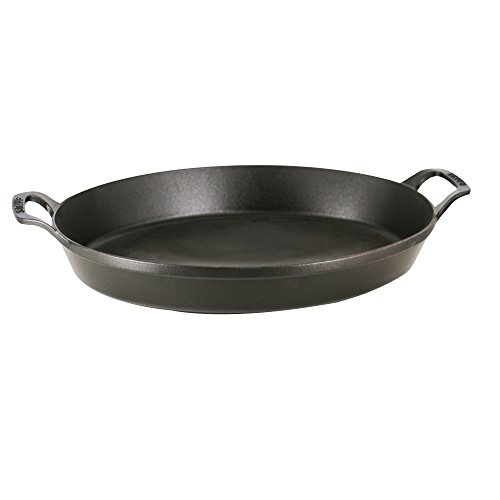 Staub Cast Iron 14.5'' X 11.2'' Oval Baking Dish - Matte Black by Staub