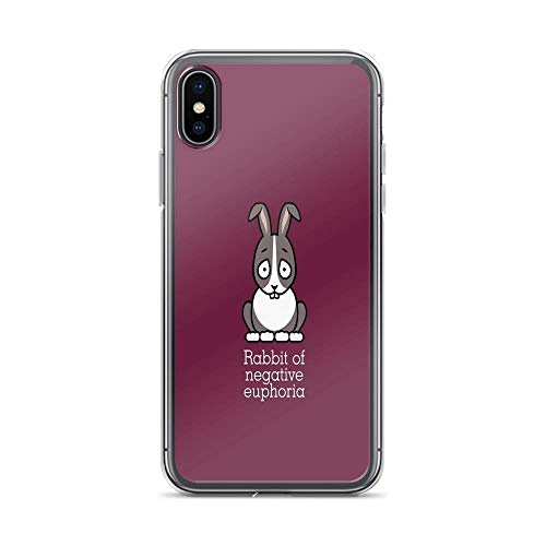 iPhone X Case iPhone Xs Case Clear Anti-Scratch Rabbit of Negative Euphoria Cover Phone Cases for iPhone X/iPhone Xs, Crystal Clear]()