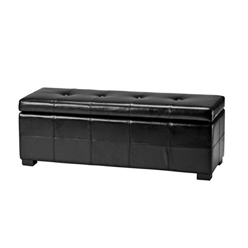 Safavieh Hudson Collection NoHo Tufted Black Leather Large ...