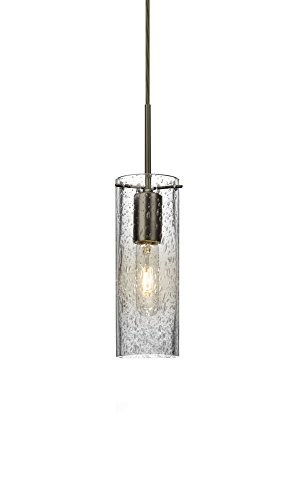 NI10CL Juni 10 - One Light Cord Pendant with Flat Canopy, Clear Bubble Glass (Pendant Indoor Clear Bubble)