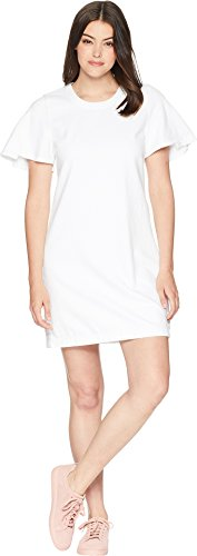 7 For All Mankind Women's Popover Dress w/Kick Sleeves White Fashion Medium