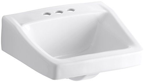 KOHLER K-1728-0 Chesapeake Wall-Mount Bathroom Sink, White