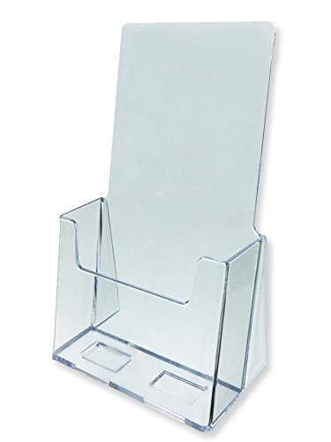 Marketing Holders Clear Acrylic Brochure Holder Literature Display for 4'' w x 9'' h Pamphlets 12 Pack by Marketing Holders