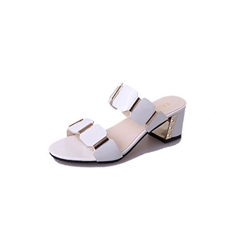 Girls JULY Sandals Toe Beach Slide Summer White Open Skid Slipper Heels T Women Non Middle dXYwx0TT