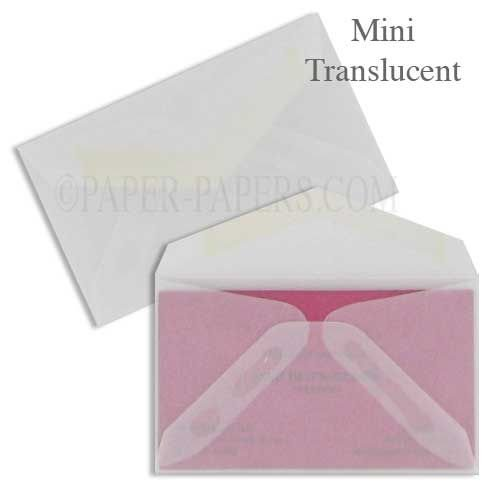 White Translucent (Vellum) - Professional Mini (2.125-in x 3.625-in) - 50 PK by Paper Papers