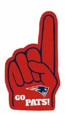 "New England Patriots FATHEAD #1 Foam Finger Team Logo Official NFL Vinyl Wall Graphic 22""x12"" INCH"