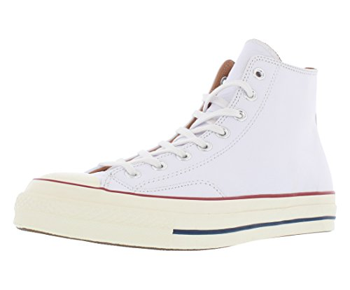 Converse Chuck Taylor 1970s Leather Hi Top Sneakers White (10.5 M US) -