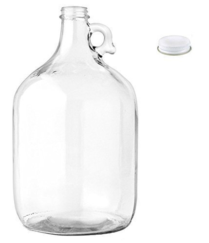 Home Brew Ohio Glass Water Bottle Includes 38 mm Metal Screw Cap, 1 gallon Capacity (Mn Beer Glass compare prices)