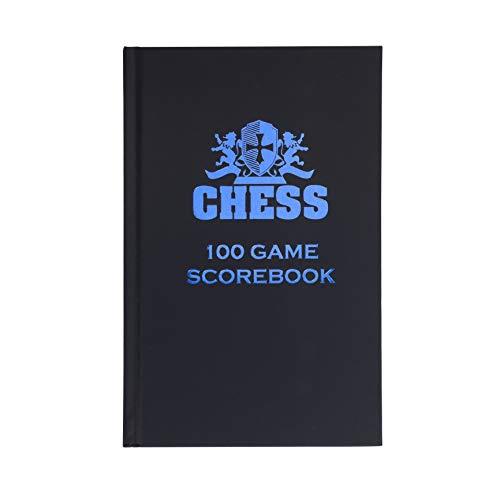We Games Hardcover Chess Notation Scorebook - Black