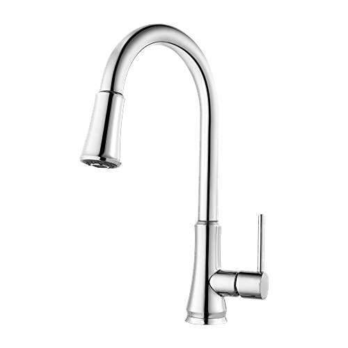 Pfister G529-PF1C-R Pfirst Series 1-Handle Pull-Down Kitchen Faucet in Polished Chrome (Renewed) ()