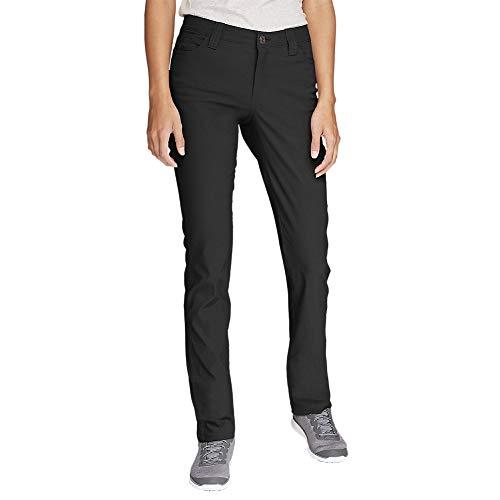 Eddie Bauer Women's Horizon Guide 5-Pocket Slim Straight Pants, Black Regular 8 ()
