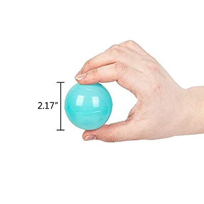 ZFRANC Pack of 200 Free BPA Free Crush Proof Plastic Ball Without Phthalate, Pit Ball for Toddlers Kids - 7 Bright Colors in Reusable & Durable Storage Mesh Bags: Toys & Games