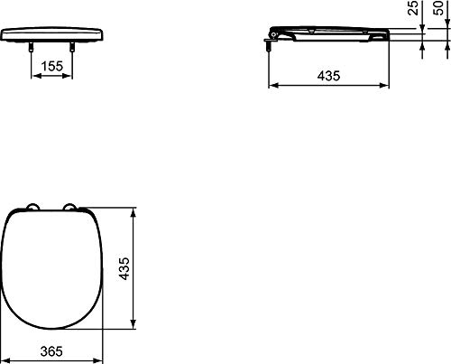 E129001 Ideal Standard Asiento Y Tapa Connect Space Abs