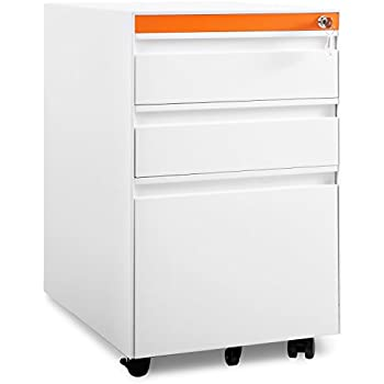 Amazon.com : Stockpile 3-Drawer File Cabinet (White) : Office Products