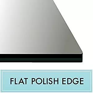 Spancraft 17 x 34 Rectangle Tempered Glass Table Top 3 8 Thick Flat Polish Edge and Touch Corner