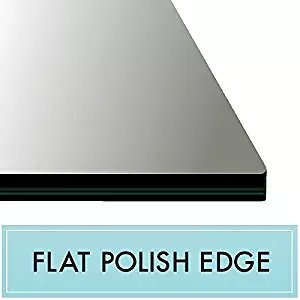 16'' x 22'' Rectangle Tempered Glass Table Top 3/8'' Thick Flat Polish Edge and Touch Corners by Spancraft