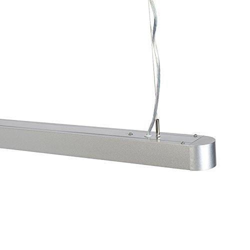 Led Duct Plastique Argent Suspendue Lampe Qazqa Moderne Rond 100cm 9DIE2H
