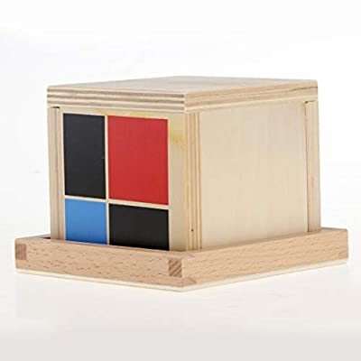 Jili Online Montessori Teaching Material Binomial Cube Set Boys Girls Wooden Toys Gift: Toys & Games