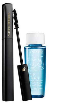 Lancome Definicils High Definition Mascara 01 Black with a 1.7 oz Bi-Facil Double-Action Eye Makeup Remover (0.21 oz, 01 Black)