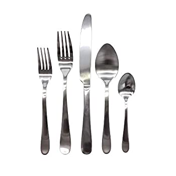 Image of Canvas Home 40 Piece Lille Cutlery Set, Service for 8 (Brushed) Flatware Sets